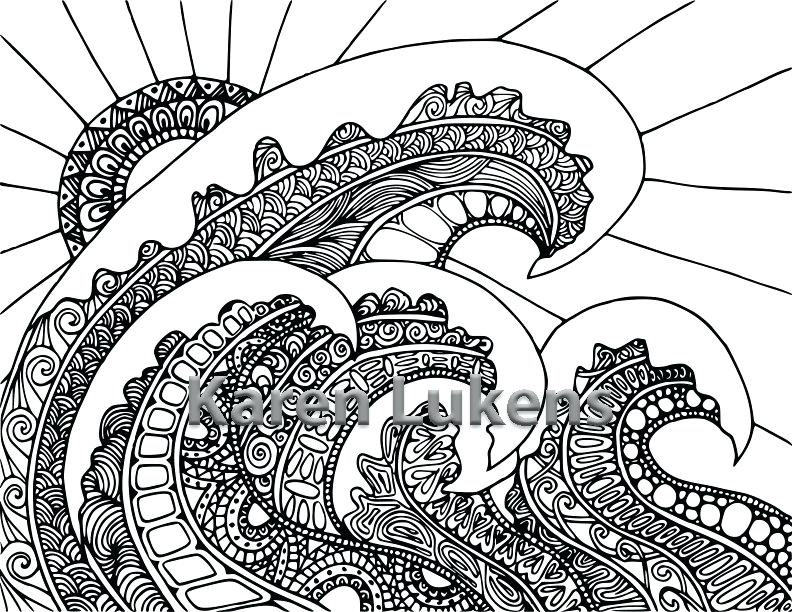 792x612 Adult Coloring Book Pages Pages Ocean Pack Adult Coloring