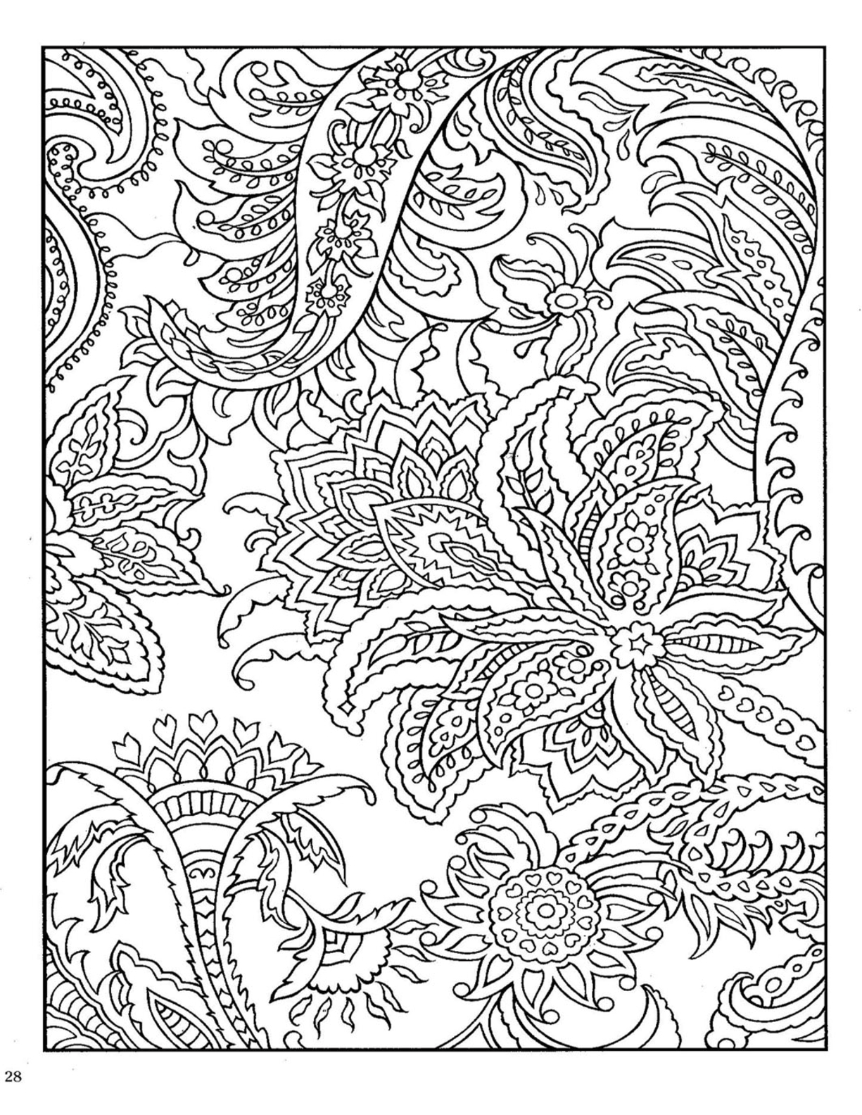 1225x1584 Dover Paisley Designs Coloring Book Dover Coloring Download