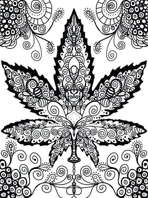 500x667 Marijuana Coloring Pages Cannabis Adult Coloring Pages Paisley