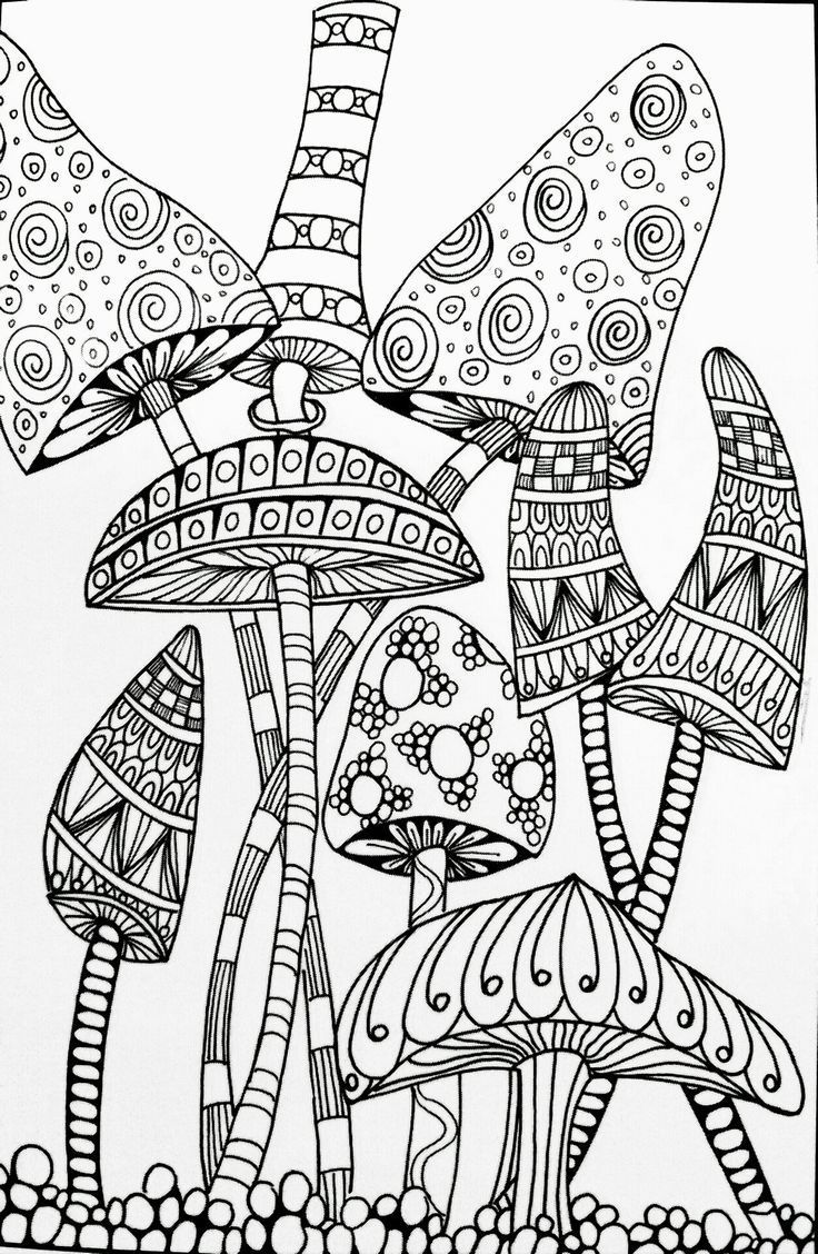 736x1128 Marvelous Abstract Mushroom Adult Coloring Pages Paisley Printable