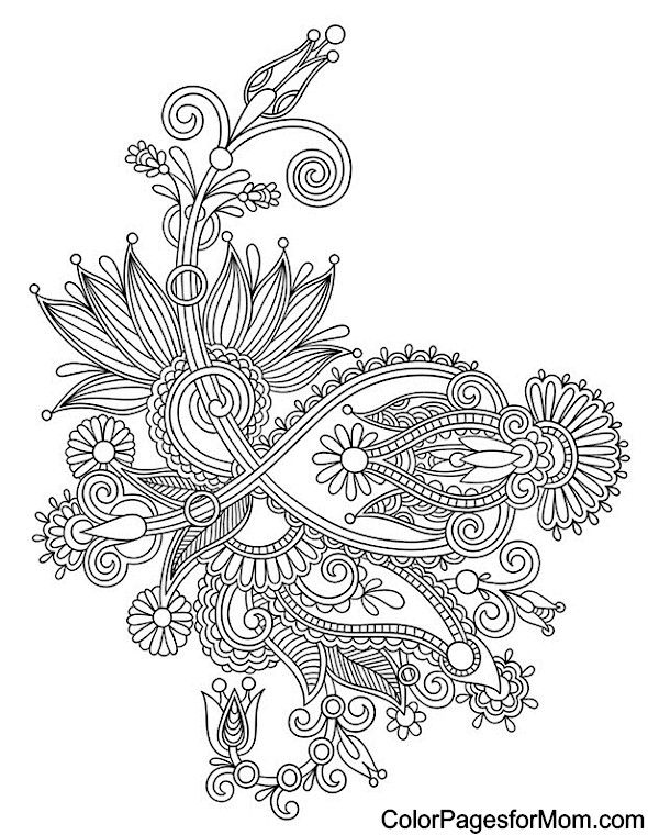 590x760 Paisley Coloring Page Coloring