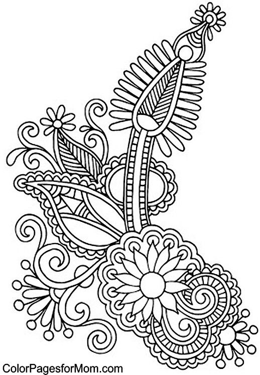 518x747 Paisley Coloring Pages Coloring Pages Adult