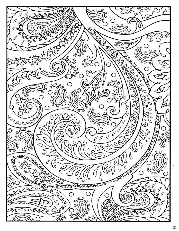 736x951 Paisley Designs Coloring Book Printable Coloring Pages Just Me