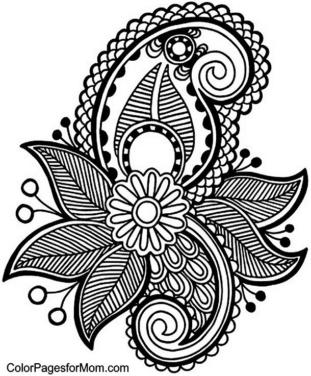 610x737 Adult Coloring Pages Paisley Letters Printable