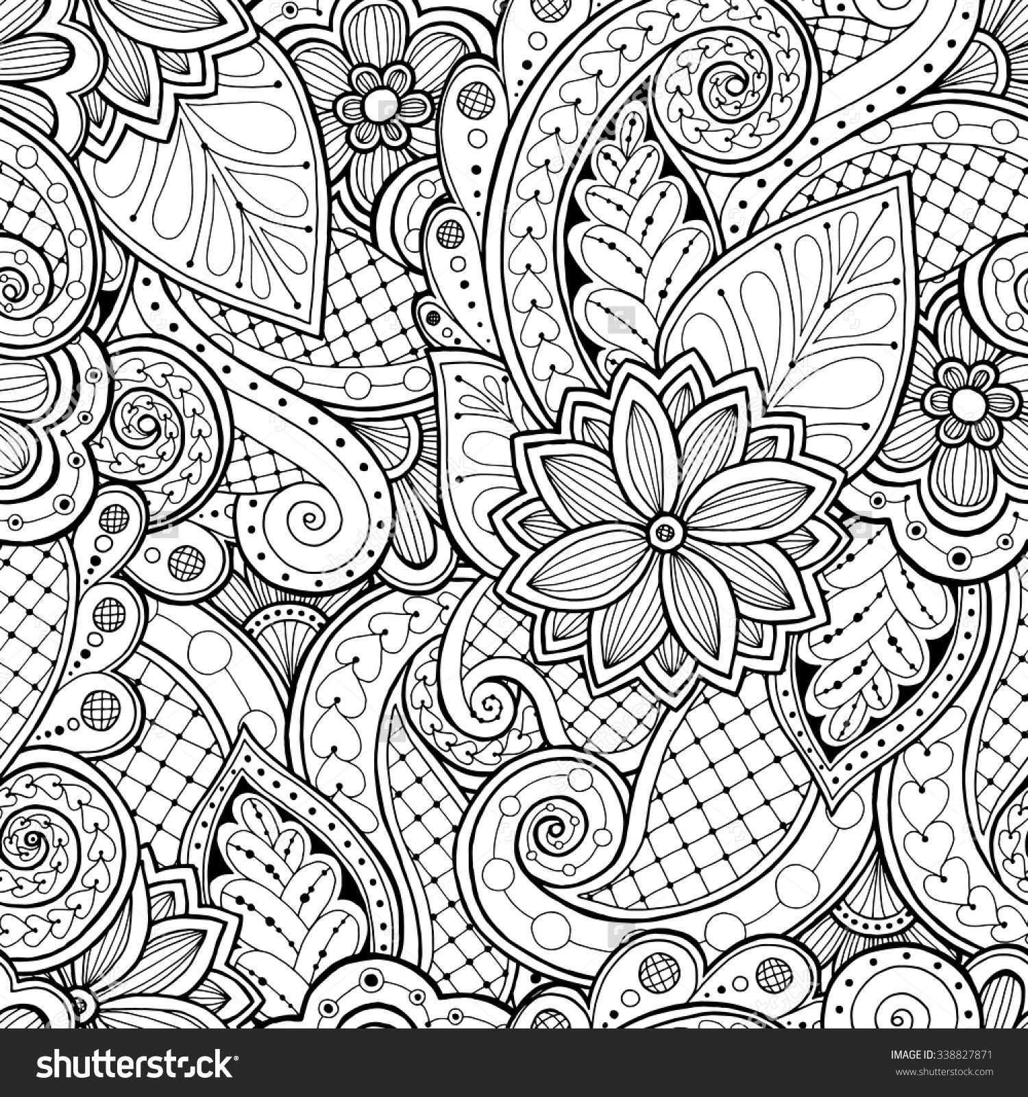 1500x1600 Beautiful Doodle Seamless Background In Vector With Doodles Free