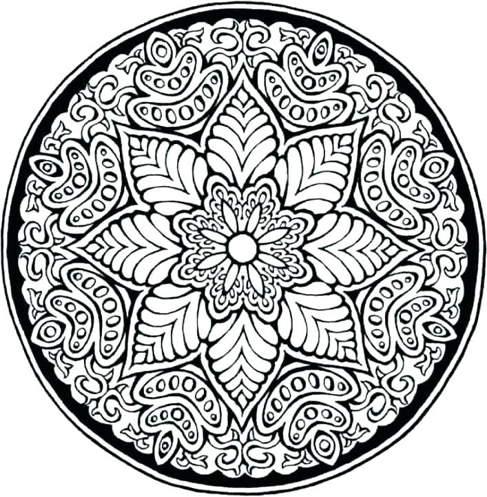 707x721 Coloring Pages Patterns Adult Coloring Pages Patterns Full Pages