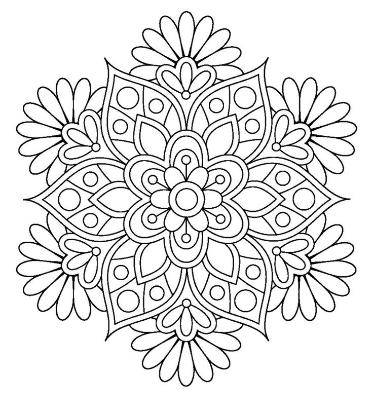 736x817 Flower Coloring Pages For Adults