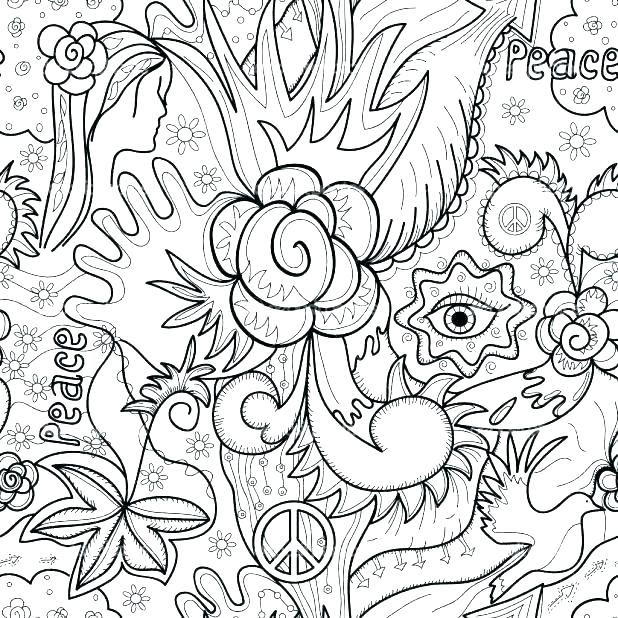 618x618 Flower Design Coloring Pages Flower Coloring Pages For Adults