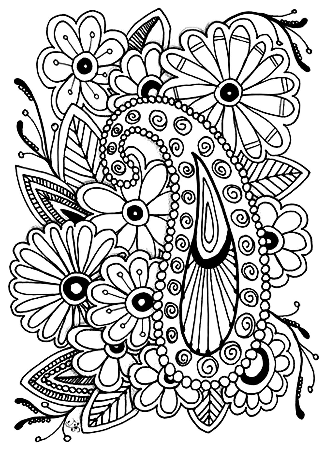 1359x1871 Flowers Paisley