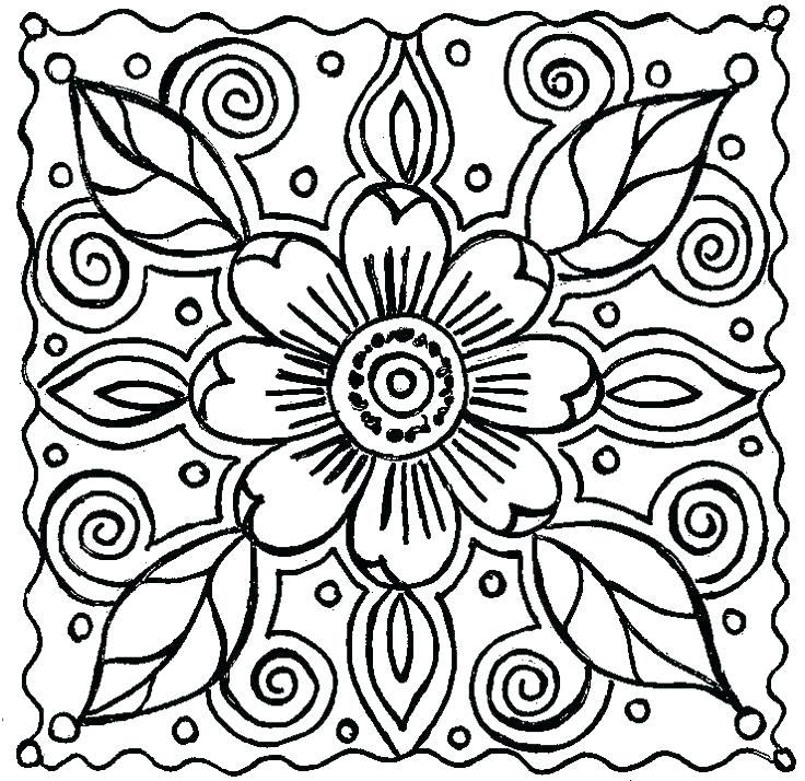 736x714 Free Coloring Patterns Free Coloring Patterns Flower Coloring