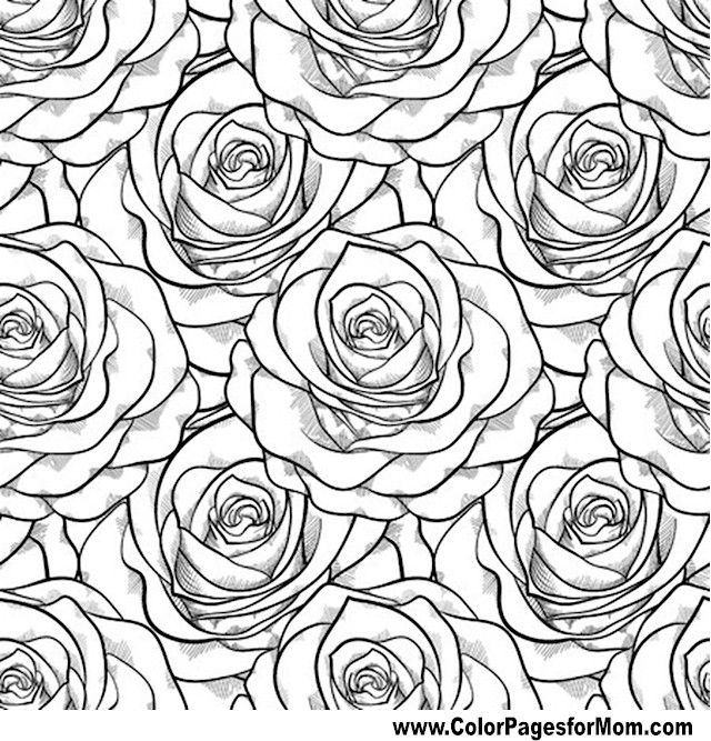 640x667 Adult Coloring Pages Flowers Patterns Download