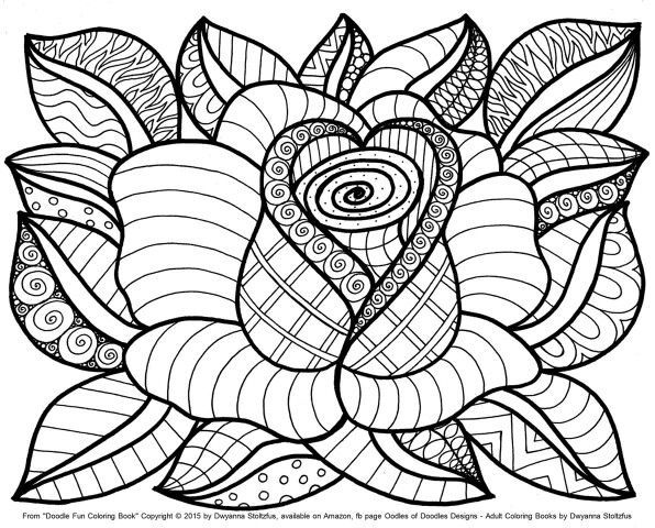 596x480 Adult Coloring Pages Flowers