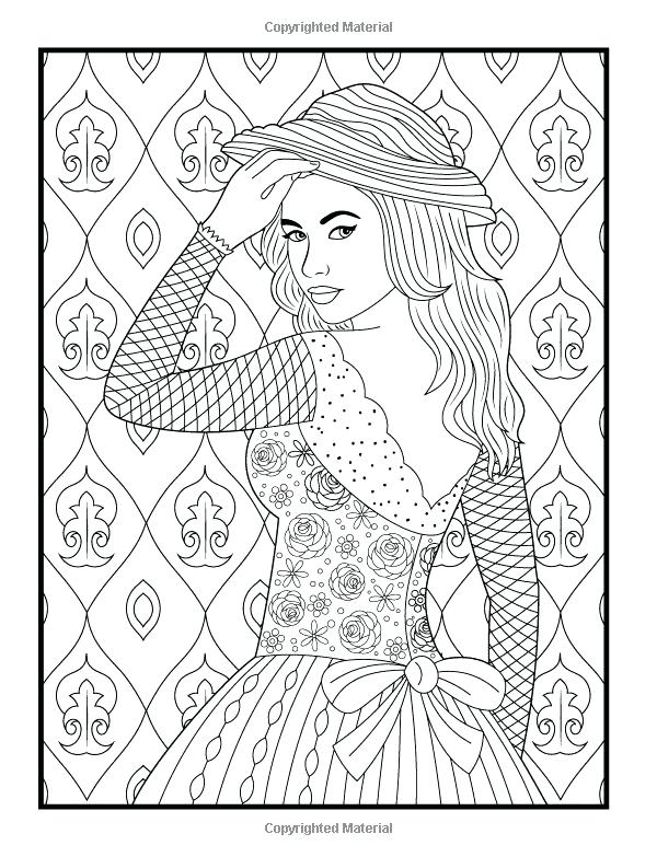 600x783 Adult Coloring Pages Patterns Women Printable Adult Coloring Pages