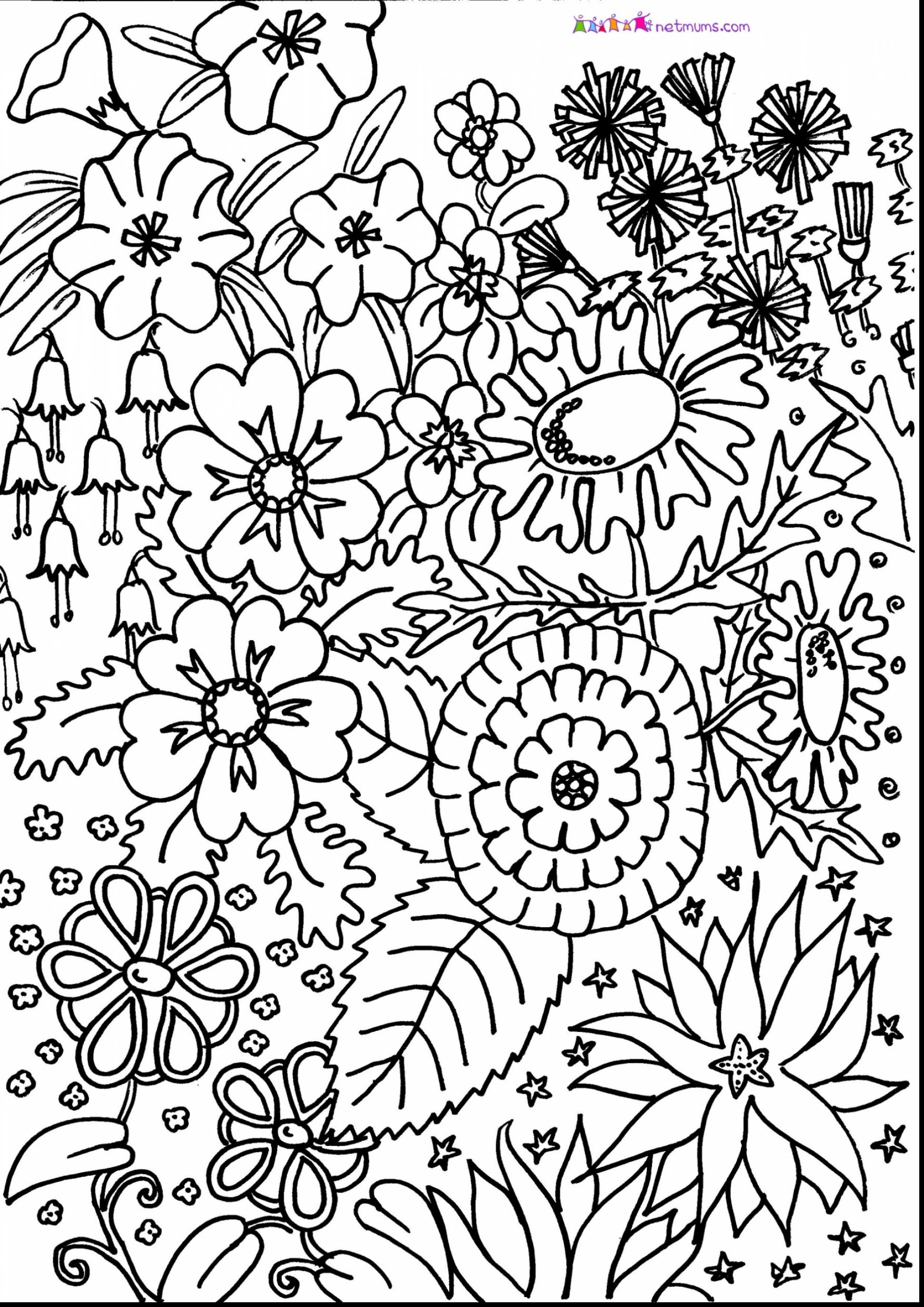 1944x2750 Awesome Unbelievable Flower Pattern Coloring Page With Hard