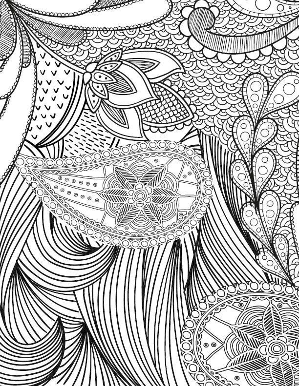 612x792 Free Adult Coloring Page For Those Who Love Crafts And Pattern