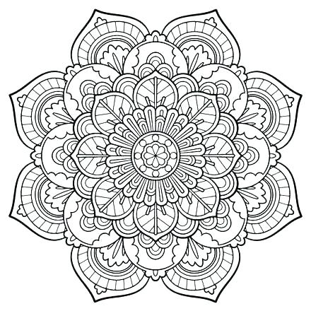 440x440 Adult Coloring Pages Pdf Free Color Bros