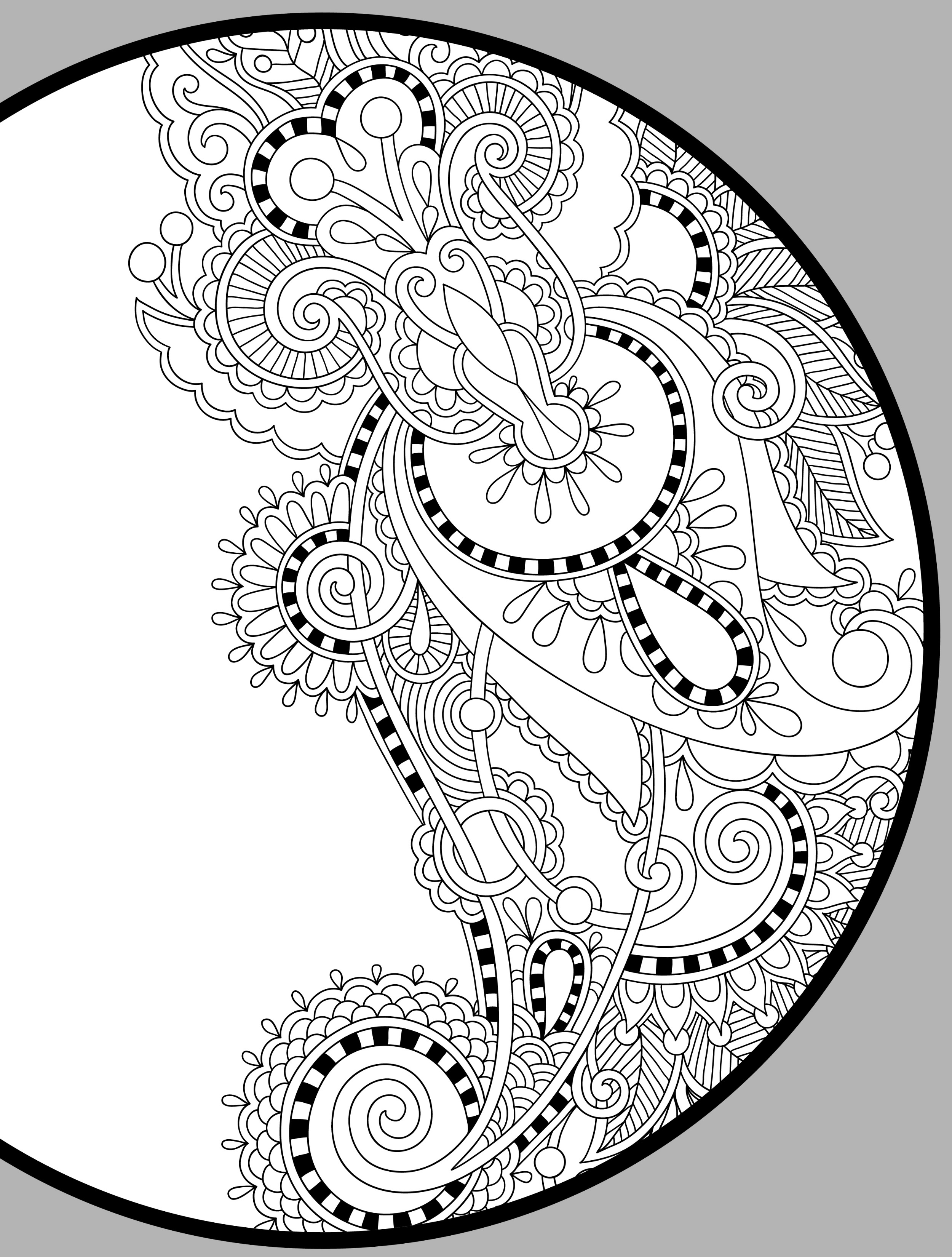 2500x3300 Coloring Pages Art Adult Coloring Books Art Nouveau Coloring