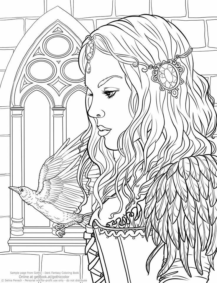 736x960 Adult Coloring Pages People Dark Detailed Printable