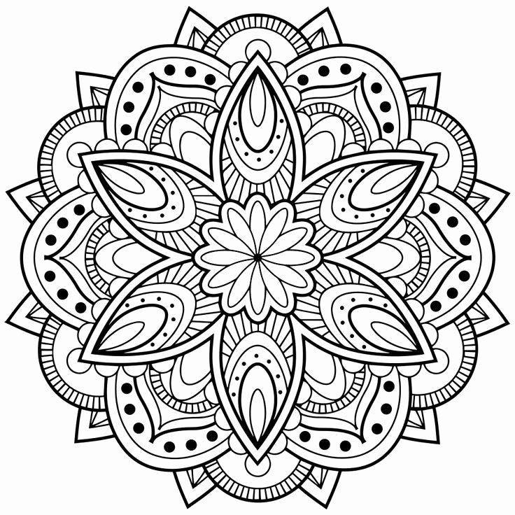 736x736 Adult Coloring Pages Of People Images Mandala Inside