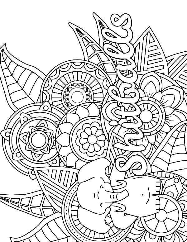 600x777 Printable Adult Coloring Pages Adult Coloring Pages Elephant Adult