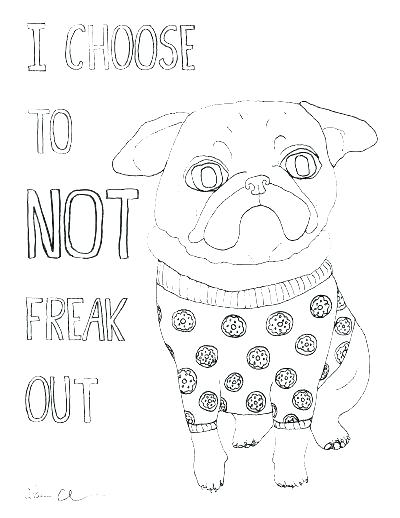 The best free Pug coloring page images. Download from 382 ...