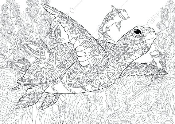 - Free Printable Coloring Pages For Kids And Adults: Printable Sea Turtle  Coloring Pages For Adults