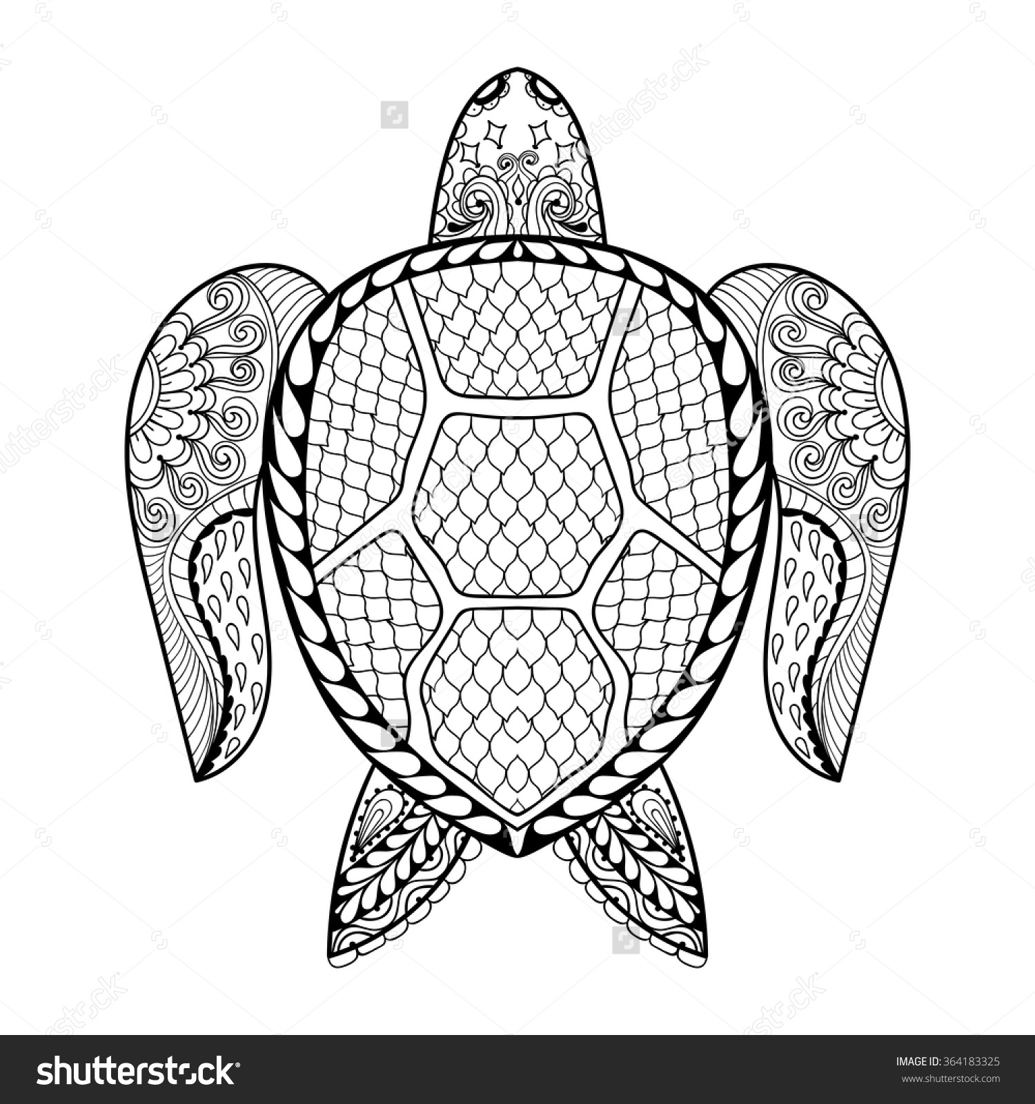 1500x1600 Sea Turtle Adult Coloring Pages Animal Patterns Printable