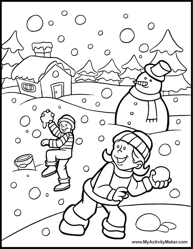 618x798 Winter Wonderland Coloring Pages Selection Free Coloring