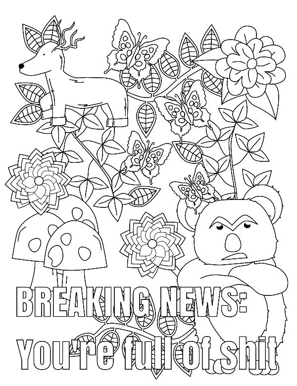 600x780 Printable Coloring Pages Winter Swear Word Coloring Pages