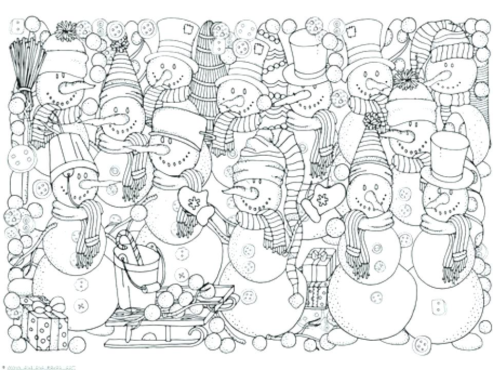 960x720 January Coloring Pages For Adults Adult Coloring Pages Winter Free