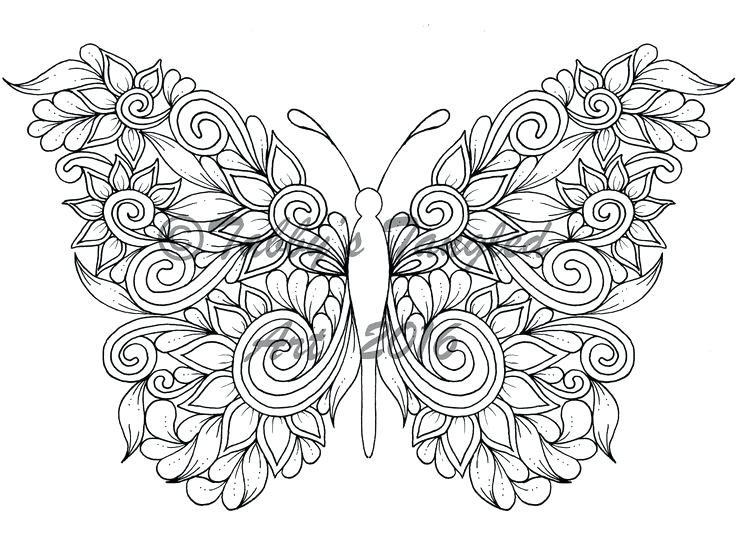 736x552 Adult Coloring Page Tangled Butterflies Coloring Pack New Pages