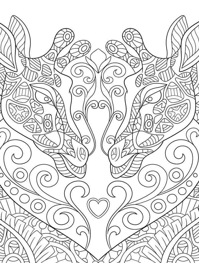 Adult Giraffe Coloring Pages