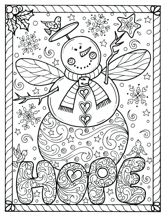 570x738 Holiday Coloring Pages For Adults As Well As Very Pretty Coloring