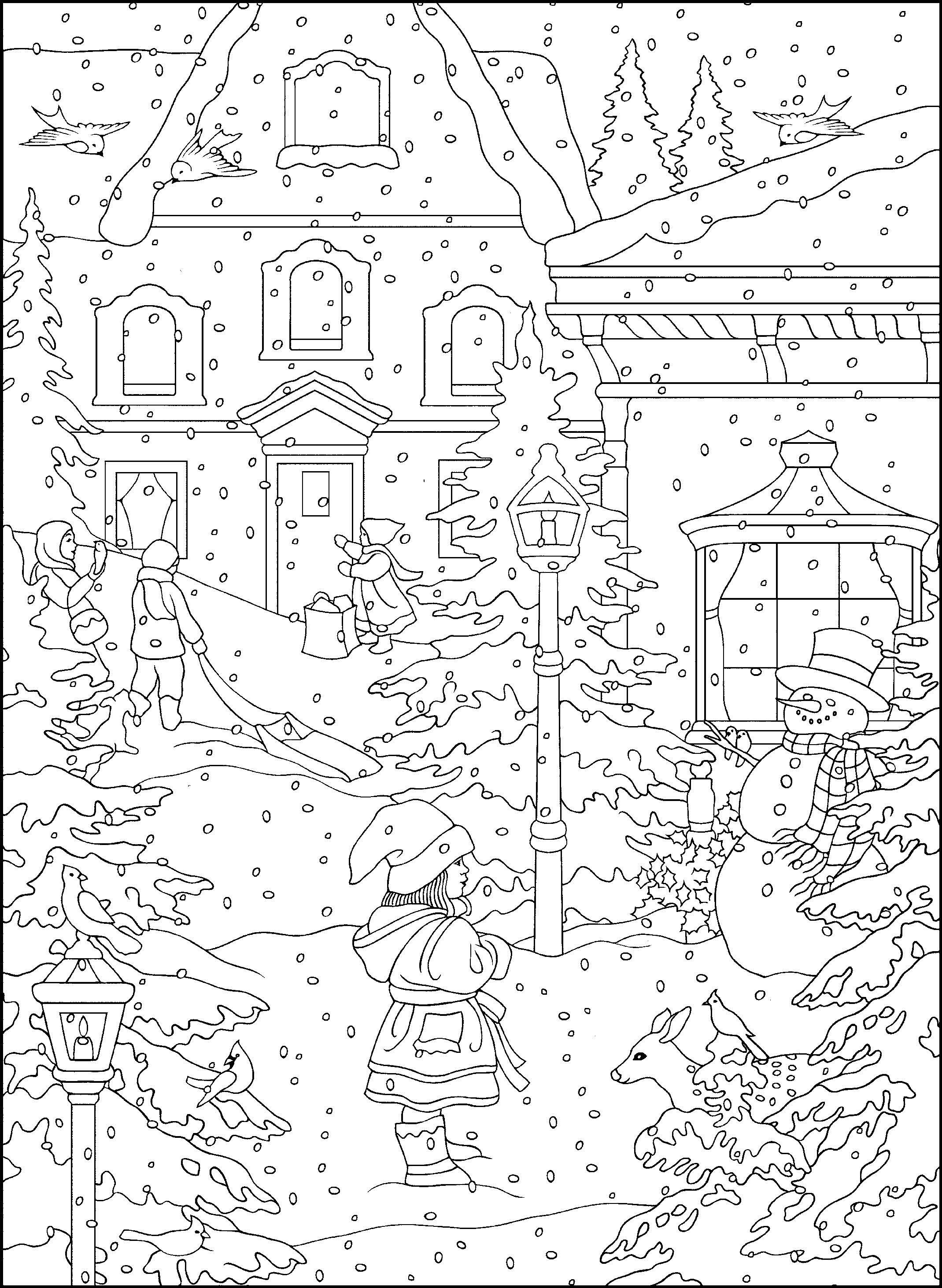 2139x2925 Holiday Coloring Pages Page Image