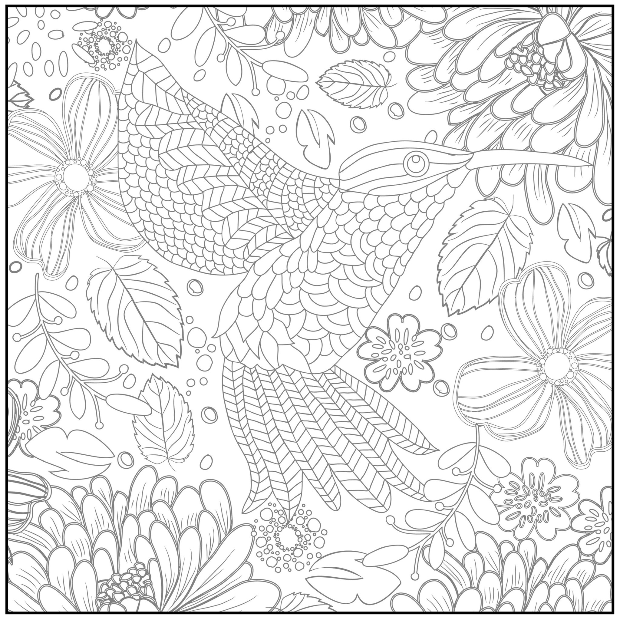2048x2048 Free Spring Coloring Pages For Adults Pretty Flowers And Adult