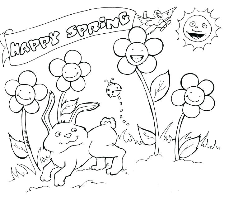 736x632 Spring Coloring Page Spring Coloring Pages Kids Spring Coloring