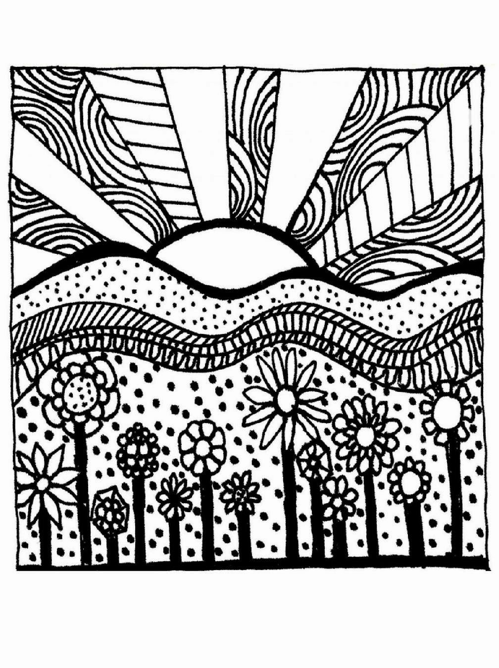 1008x1350 Spring Coloring Pages For Adults Eson Me