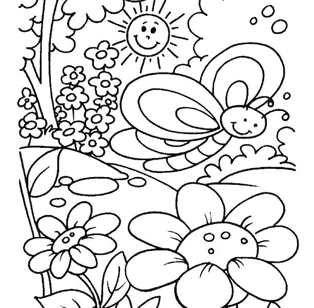 612x600 Spring Coloring Pages Spring Colouring Page Best Spring Coloring