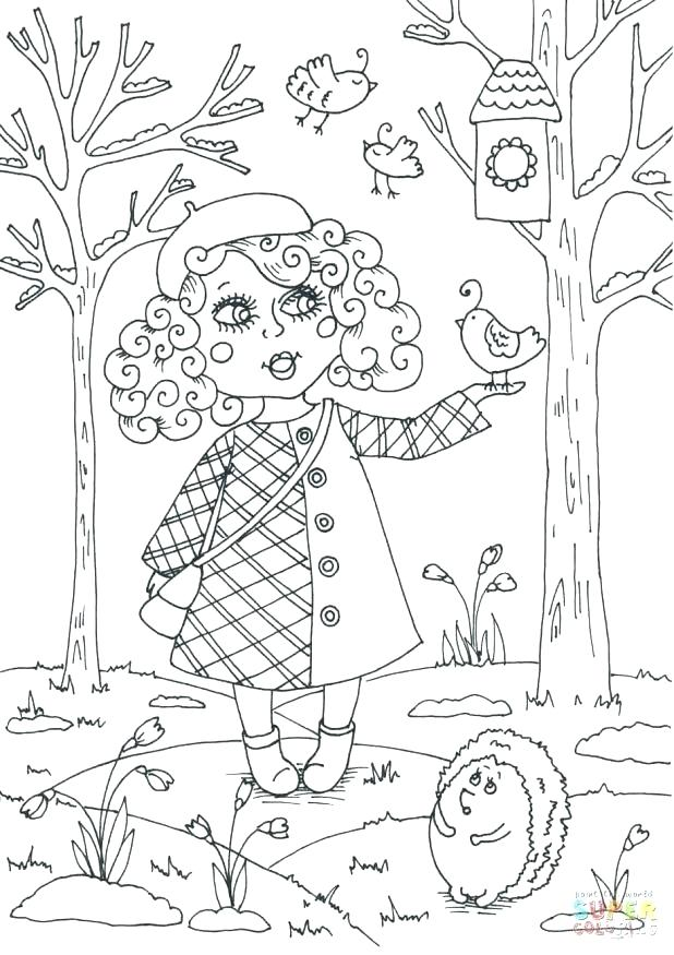 618x875 Welcome Spring Coloring Pages Spring Coloring Pages To Print