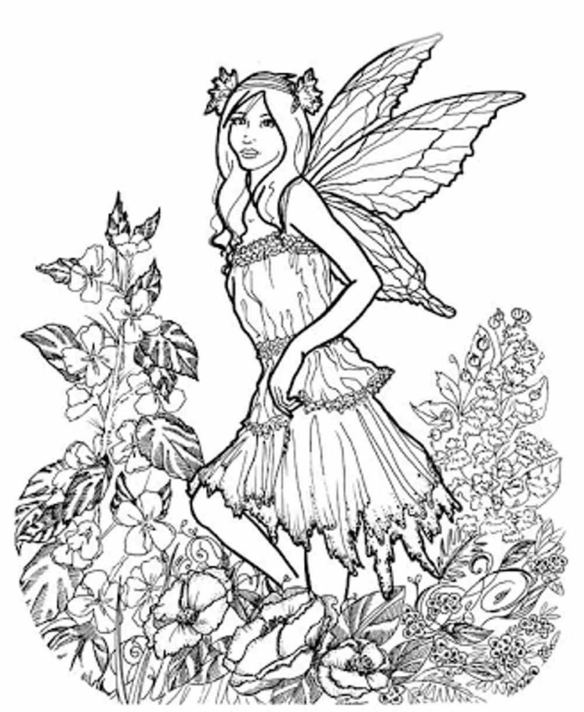 839x1024 Fairy Coloring Pages For Adults Printable Kids Colouring Pages
