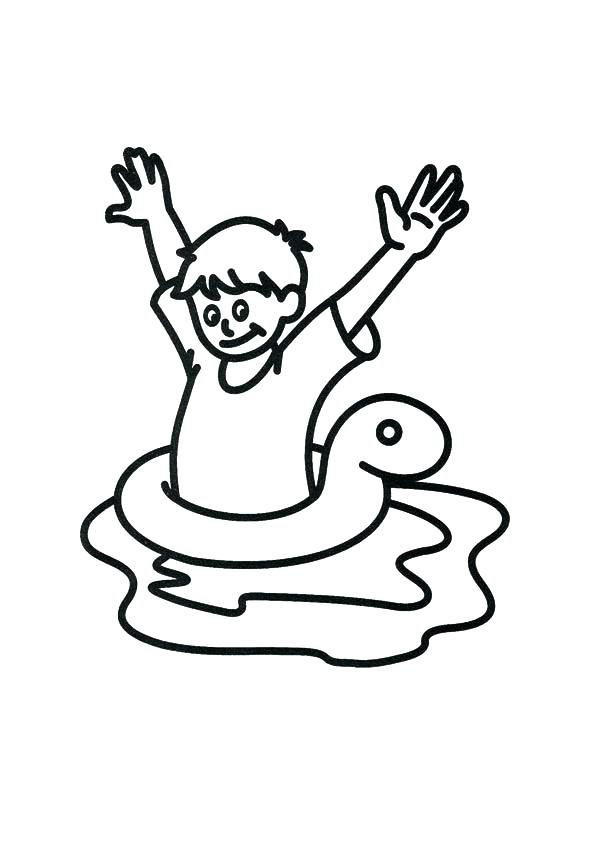 595x842 Swimming Coloring Page Girl And Swimming Coloring Sheet Swimming