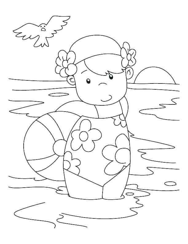 612x792 Swimming Coloring Pages From Swimming Coloring Pages Swimming