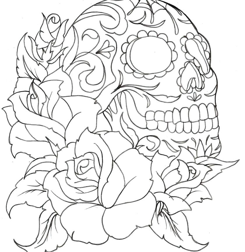 841x864 Free Printable Tattoo Coloring Pages For Adults Bull Kids