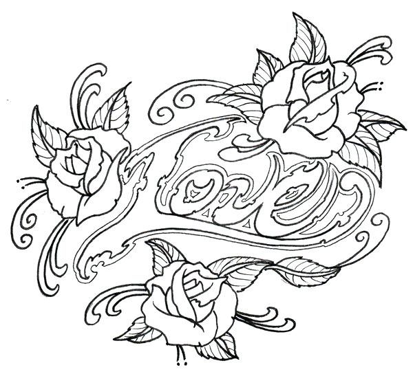 600x544 Tattoo Coloring Pages Printable Traditional Tattoo Coloring Book
