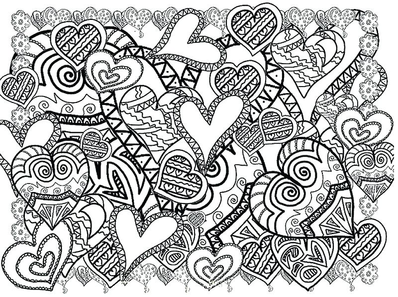 800x597 Elegant Valentines Day Coloring Pages For Adults Or Heart Coloring