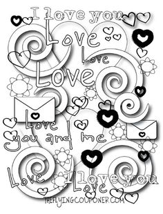 236x310 These Valentines Free Printable Adult Coloring Pages Are So