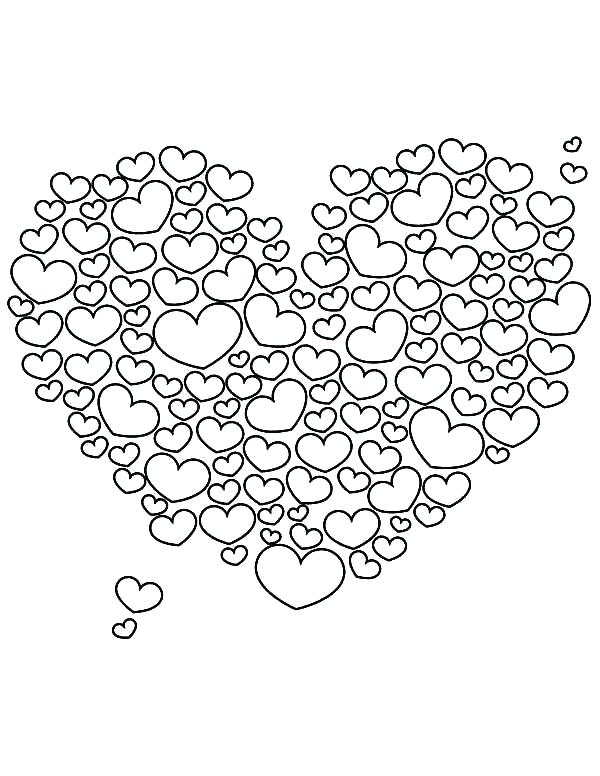 600x776 V Day Coloring Pages Valentines Day Hearts Coloring Pages Medium
