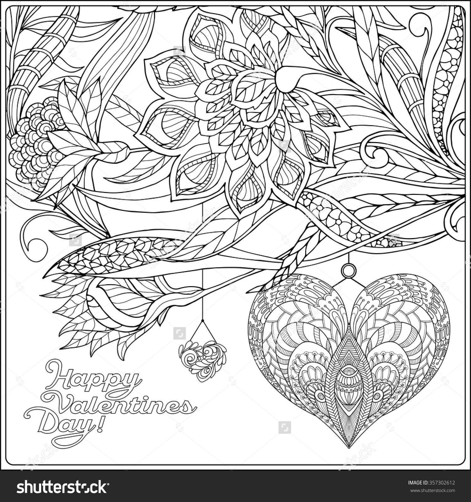 1500x1600 Valentines Day Coloring Pages For Adults