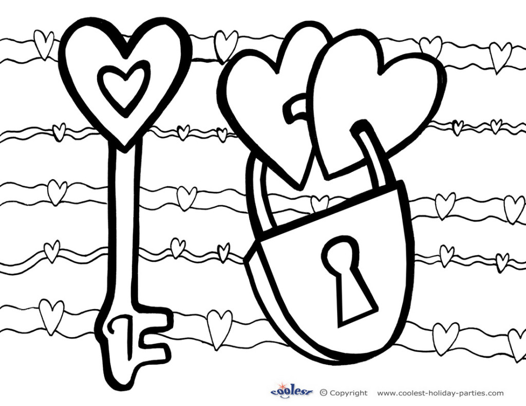 1024x791 Free Printable Valentines Day Coloring Pages For Adults Free
