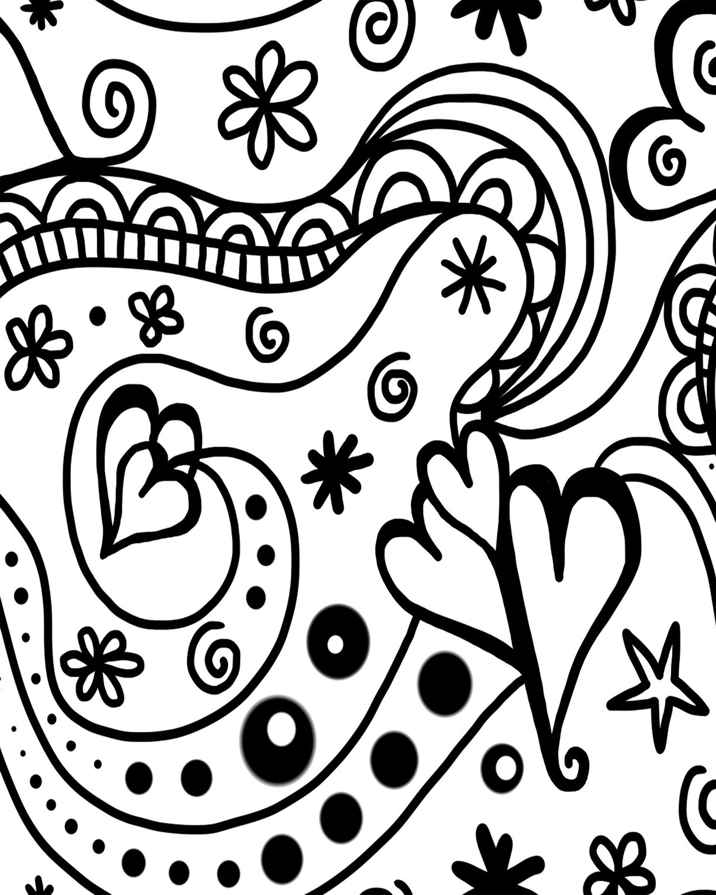 2400x3000 Adult Valentine's Day Coloring Sheets